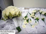 Vanessa's Hand Tie with other bridal flowers