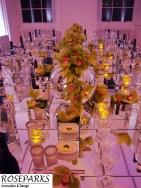 Green Cymbidium Orchids in Mirror Ball/Table
